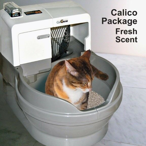 Catgenie 120 Self Cleaning Litter Box Calico Package Ebay