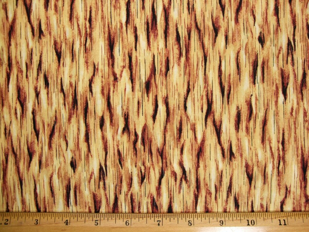 Wood look print cotton fabric by the yard bty ebay for Fabric by the yard