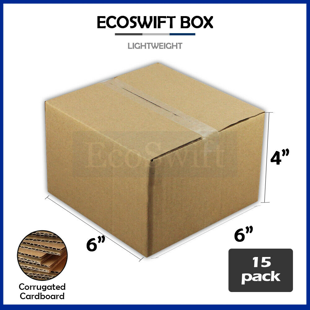 15 6x6x4 cardboard packing mailing moving shipping boxes. Black Bedroom Furniture Sets. Home Design Ideas