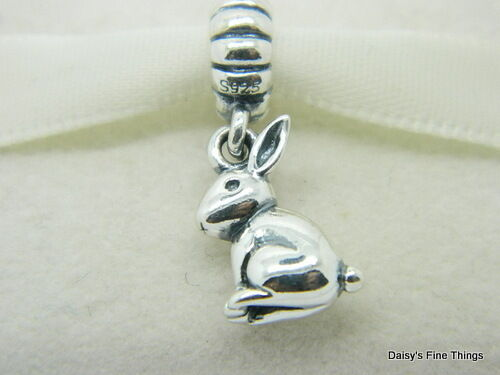 New   Authentic Pandora Charm Bunny Dangle  791101 P