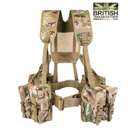img-Army Military Combat Full Webbing Belt Web System BTP Assault Vest British New