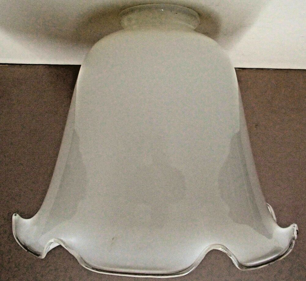 Opal Cased Glass Lamp Shade Desk Fixture Or Floor Lamp
