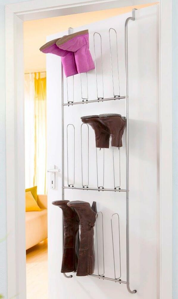stiefel t r regal schuhregal t rregal stiefel rack metall ebay. Black Bedroom Furniture Sets. Home Design Ideas