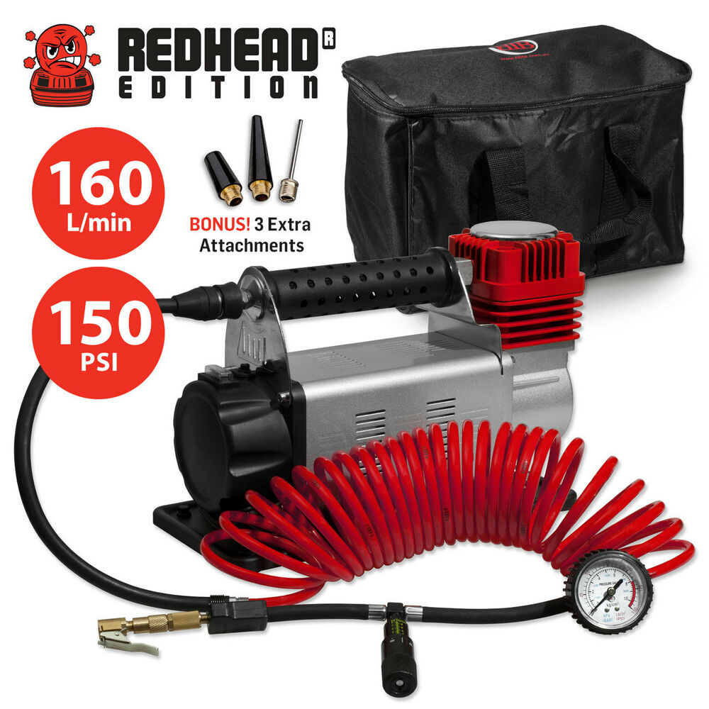 bbt red head edition 12v 4wd air compressor off road. Black Bedroom Furniture Sets. Home Design Ideas