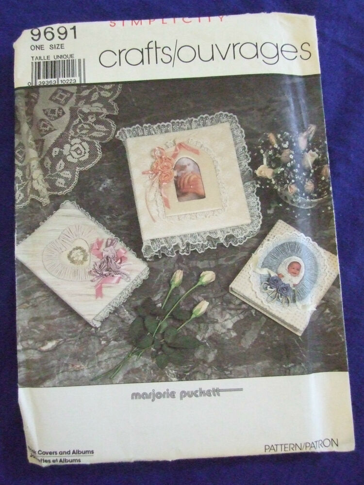 Book Cover Pattern Guide : Uncut simplicity albums frames book covers sewing