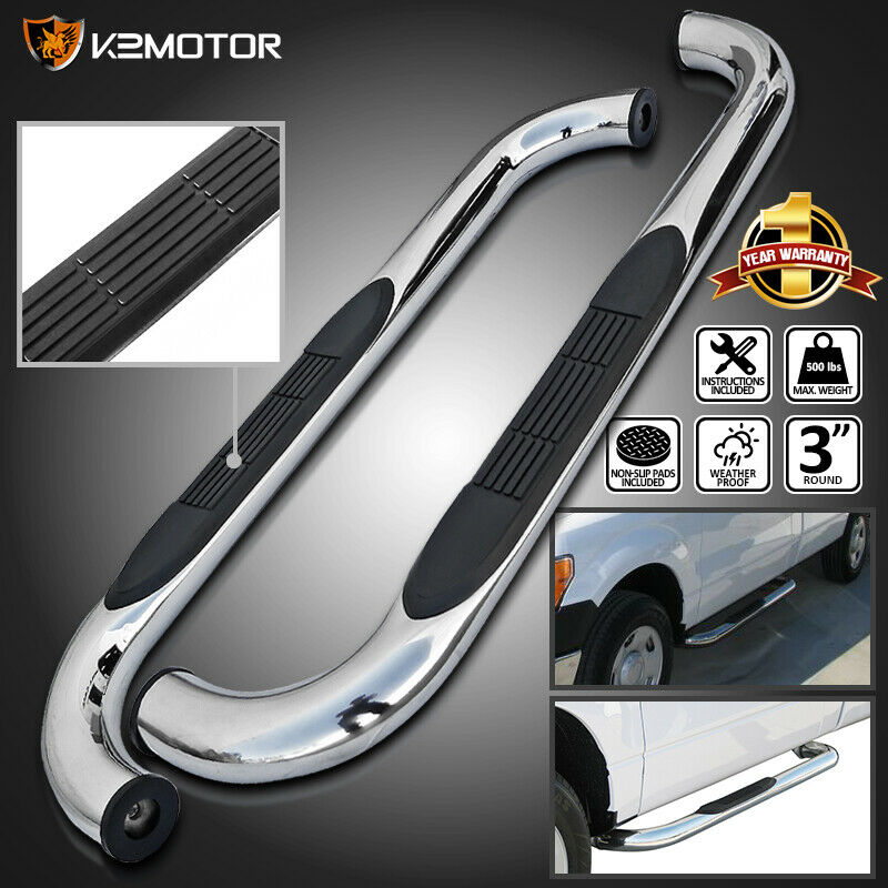 98-11 Ford Ranger Regular Cab 2Dr Chrome SS Side Step Nerf