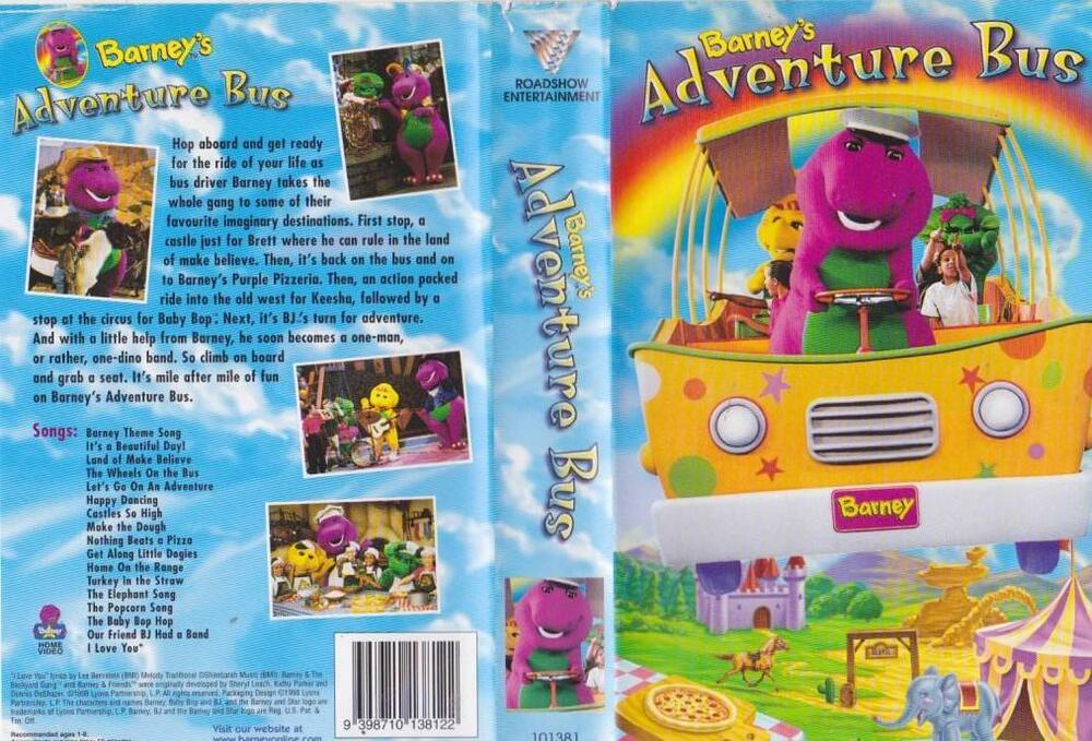 Where Can I Sell My Vhs Tapes >> BARNEYS ADVENTURE BUS VHS VIDEO PAL~ A RARE FIND~ | eBay