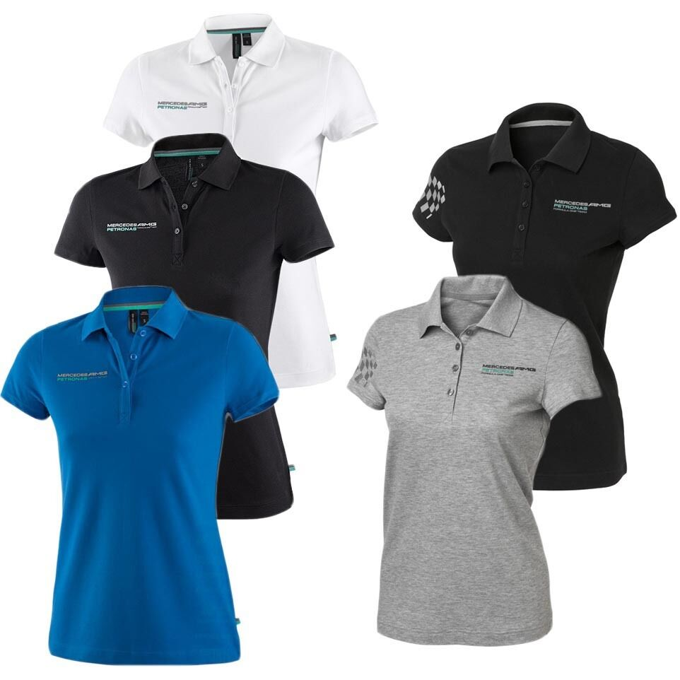 mercedes amg petronas team f1 polo poloshirt damen shirt. Black Bedroom Furniture Sets. Home Design Ideas