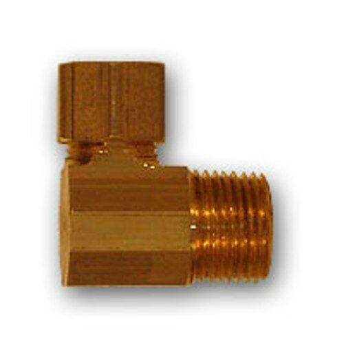 Inch od compression male mpt elbow brass pipe