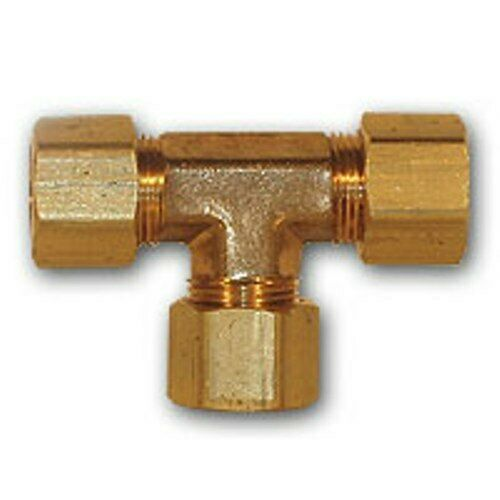 Inch od compression tee brass soft copper pipe fitting