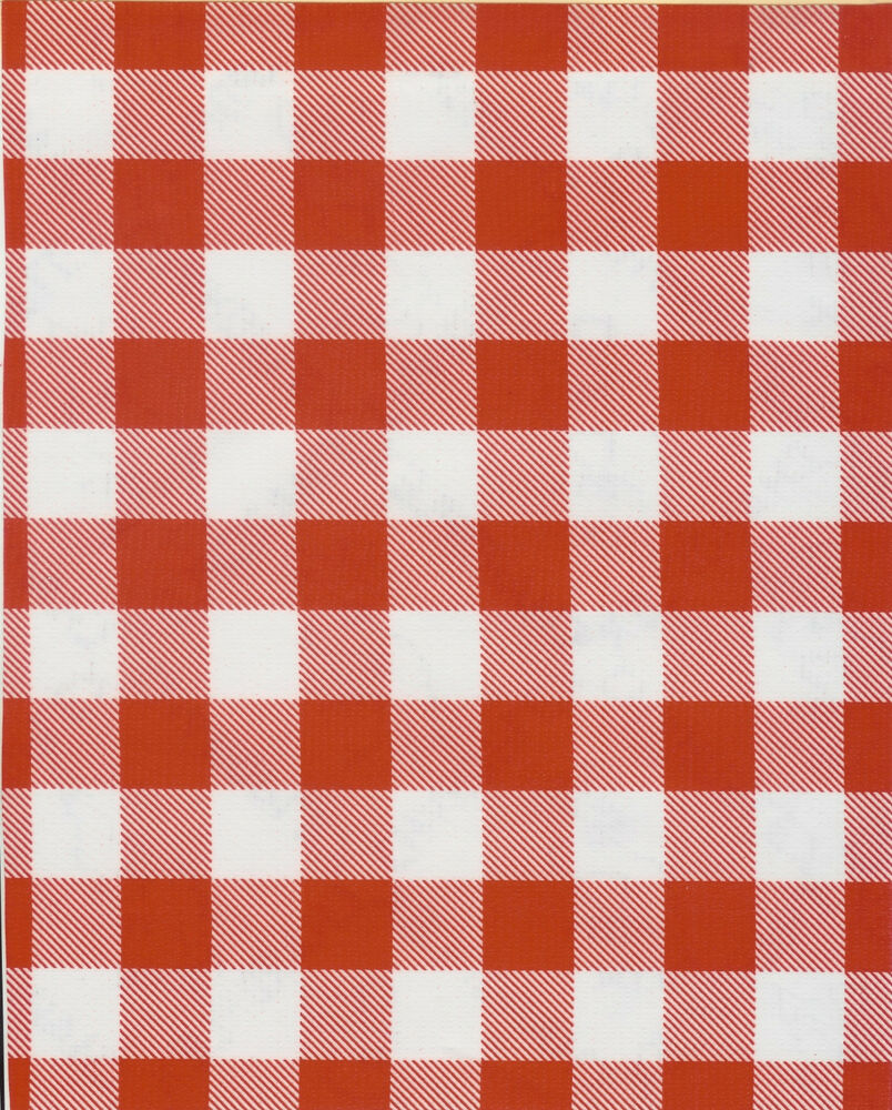 Red Gingham Large Picnic Check Oilcloth Material Fabric ...