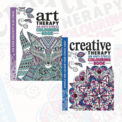 The Art Therapy Creative Colouring 2 Books Collection Set BrandNew 5060410310514