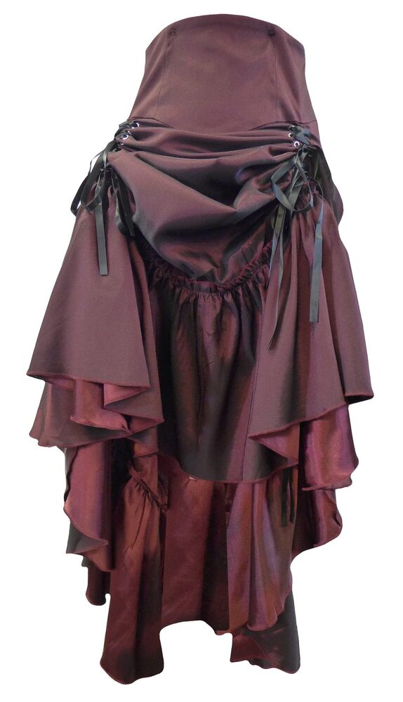 black burgundy goth ruched long steampunk sateen corset. Black Bedroom Furniture Sets. Home Design Ideas