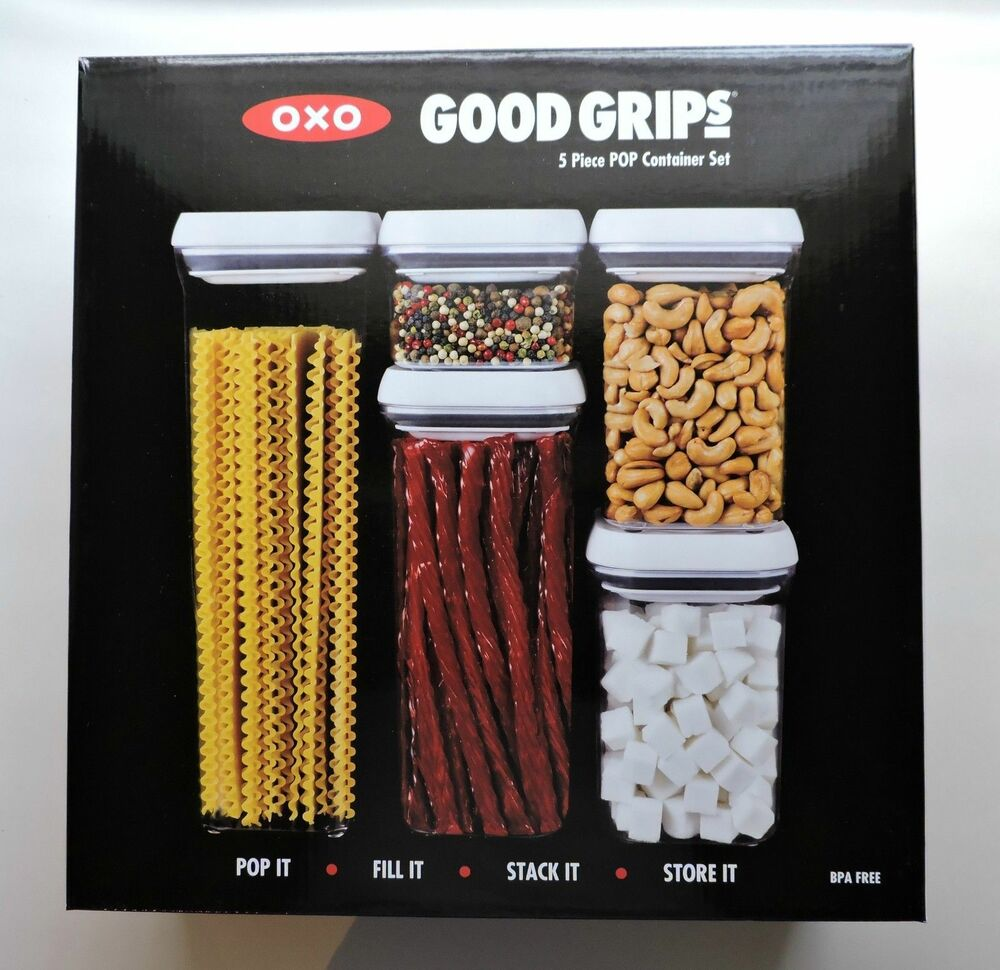 NEW! OXO Good Grips 5 Piece POP Container Set Canister