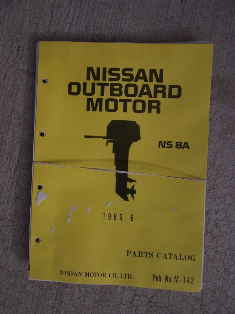 1986 nissan outboard motor ns 8a parts catalog many more for Outboard motor parts online