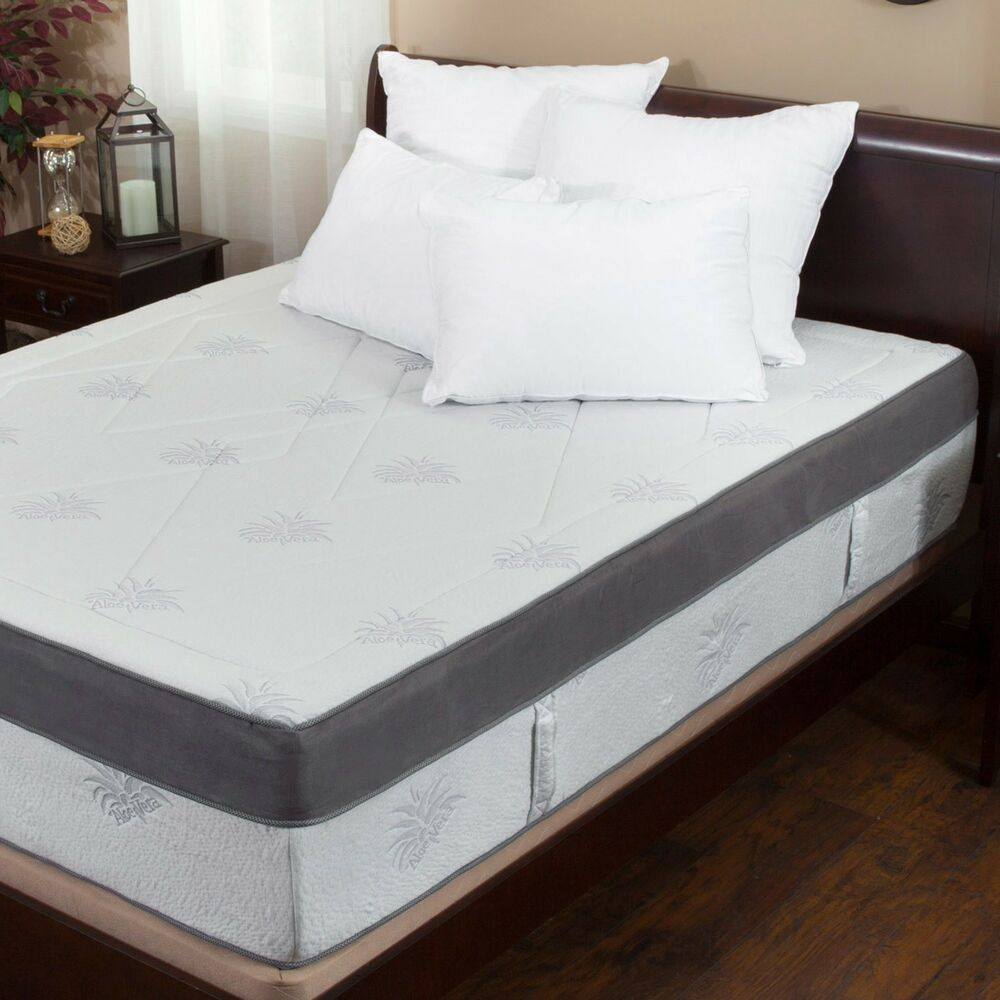 Aloe gel infused memory foam 15 inch king size mattress ebay Memory foam king size mattress
