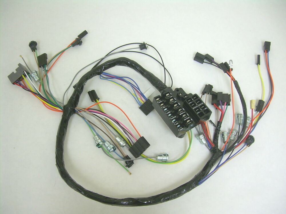 1962 impala under dash wiring harness with fusebox ... 1969 camaro under dash wiring harness #8