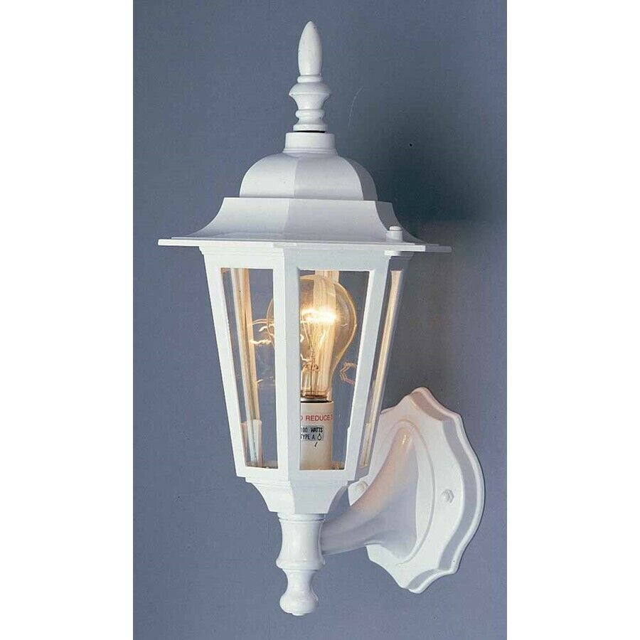 Volume Lighting 1 Light White Outdoor Wall Sconce White