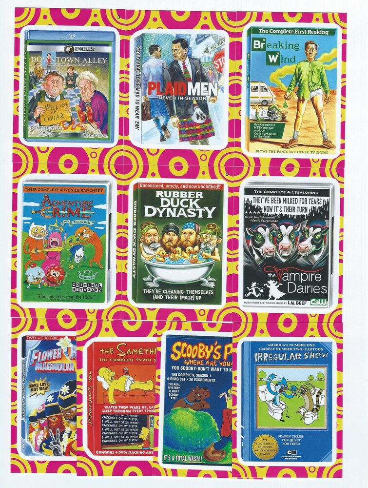 2014 Topps Wacky Packages Series 1 Terrible Tv Insert Set