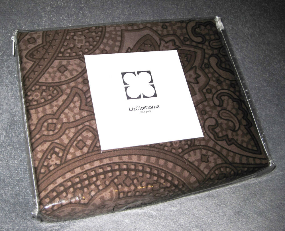Liz Claiborne New York Brown Paisley 84W x 80L Drapes Ties Set | eBay