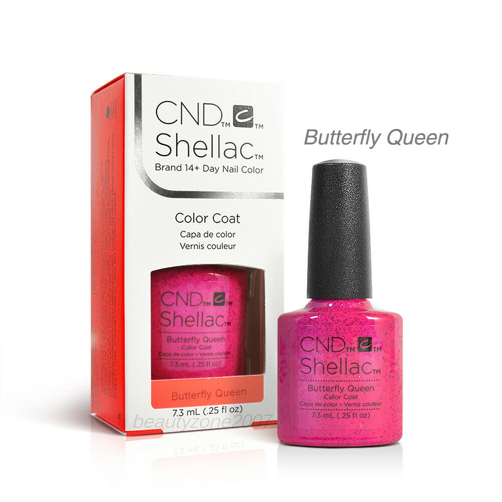 Queen Gel Nail Polish: CND Shellac UV Gel Polish - Butterfly Queen 0.25oz