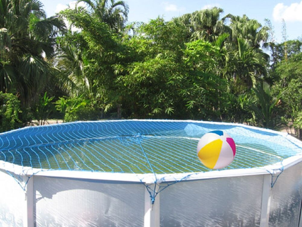 Water warden pool safety net system for round above ground pool all sizes ebay for Round swimming pools above ground