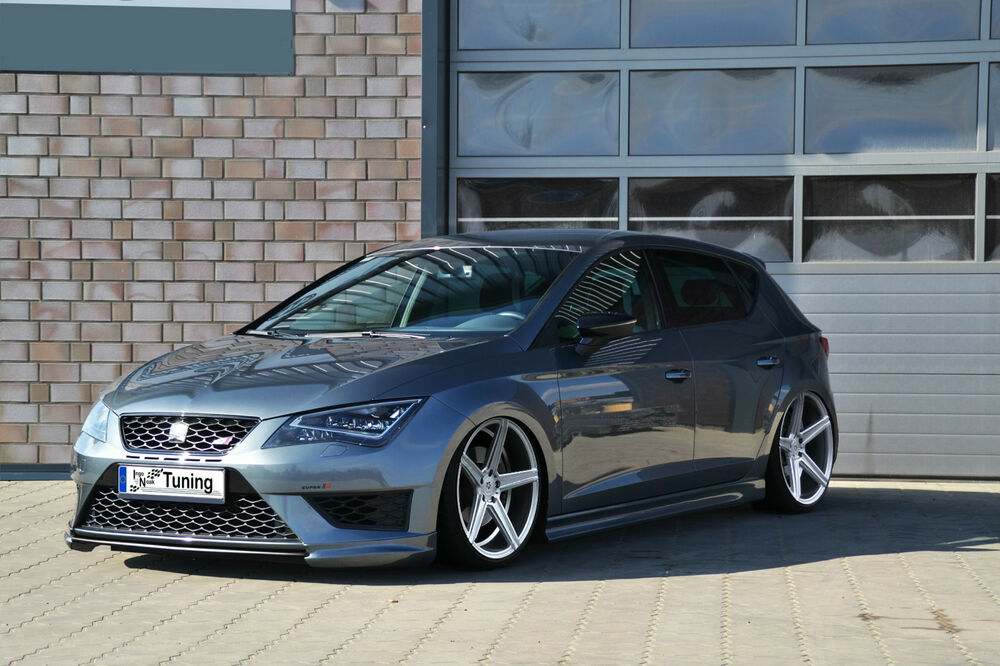frontspoiler frontlippe spoiler aus abs f r seat leon 3 5f sc fr st cupra ebay. Black Bedroom Furniture Sets. Home Design Ideas