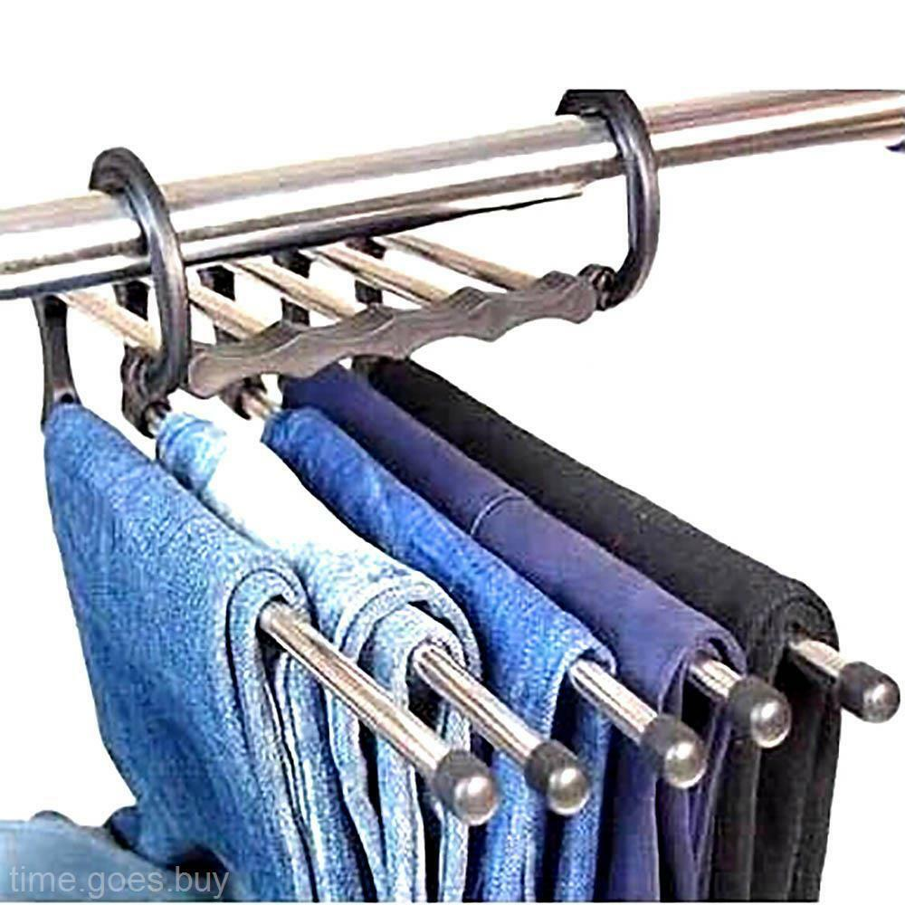 clothes dry rack holder hanger hook for pants trousers jeans scarf coats towel ebay. Black Bedroom Furniture Sets. Home Design Ideas