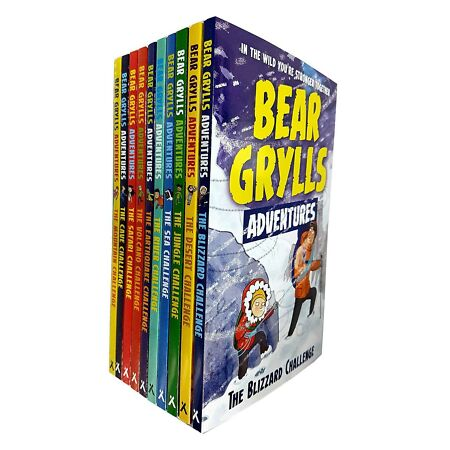 img-Bear Grylls Adventure Series Mountain Challenge 10 Books Collection Set NEW