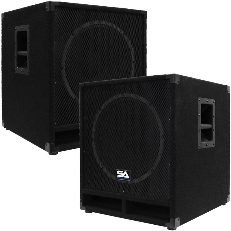 seismic audio pair of powered 15 sub cabs pa dj pro audio band active 15 subs ebay. Black Bedroom Furniture Sets. Home Design Ideas