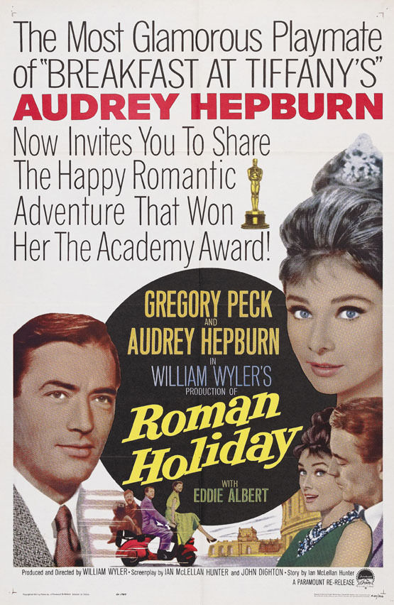 roman holiday audrey hepburn cult movie poster print 11 ebay. Black Bedroom Furniture Sets. Home Design Ideas