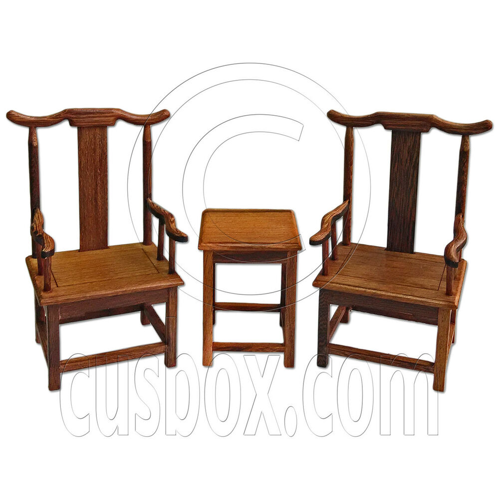 Set Raw Wenge Wood Chinese Armchair Tea Coffee Table 1 6