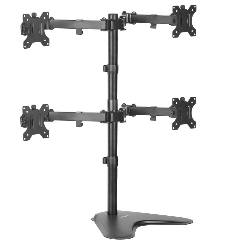 Vivo Quad Monitor Desk Stand Mount Freestanding Adjustable