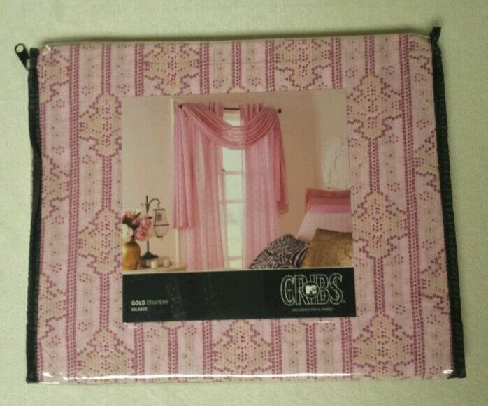 JCPenney Mtv Cribs Window Valance Scarf. Pink 42 x 144long. NIP MSRP ...