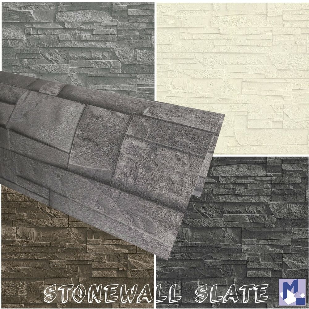 vliestapete stonewall slate rasch 3d mauer tapete in 4 farben ebay. Black Bedroom Furniture Sets. Home Design Ideas