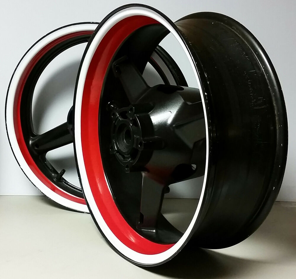 Red Amp Blue Motorcycle Inner Rim Decals Wheel Stickers