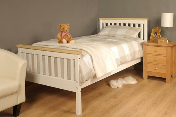 single bed in white pine 3ft single bed wooden frame white. Black Bedroom Furniture Sets. Home Design Ideas