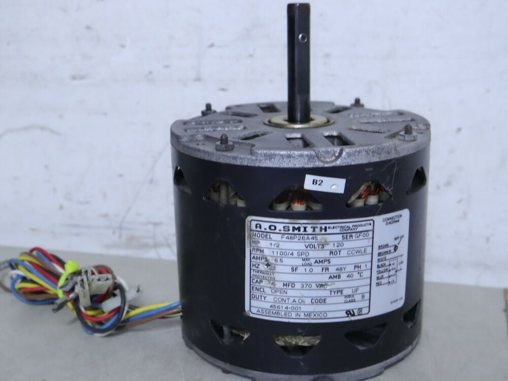 a o smith f48p28a45 furnace blower motor 1 2hp 1100rpm