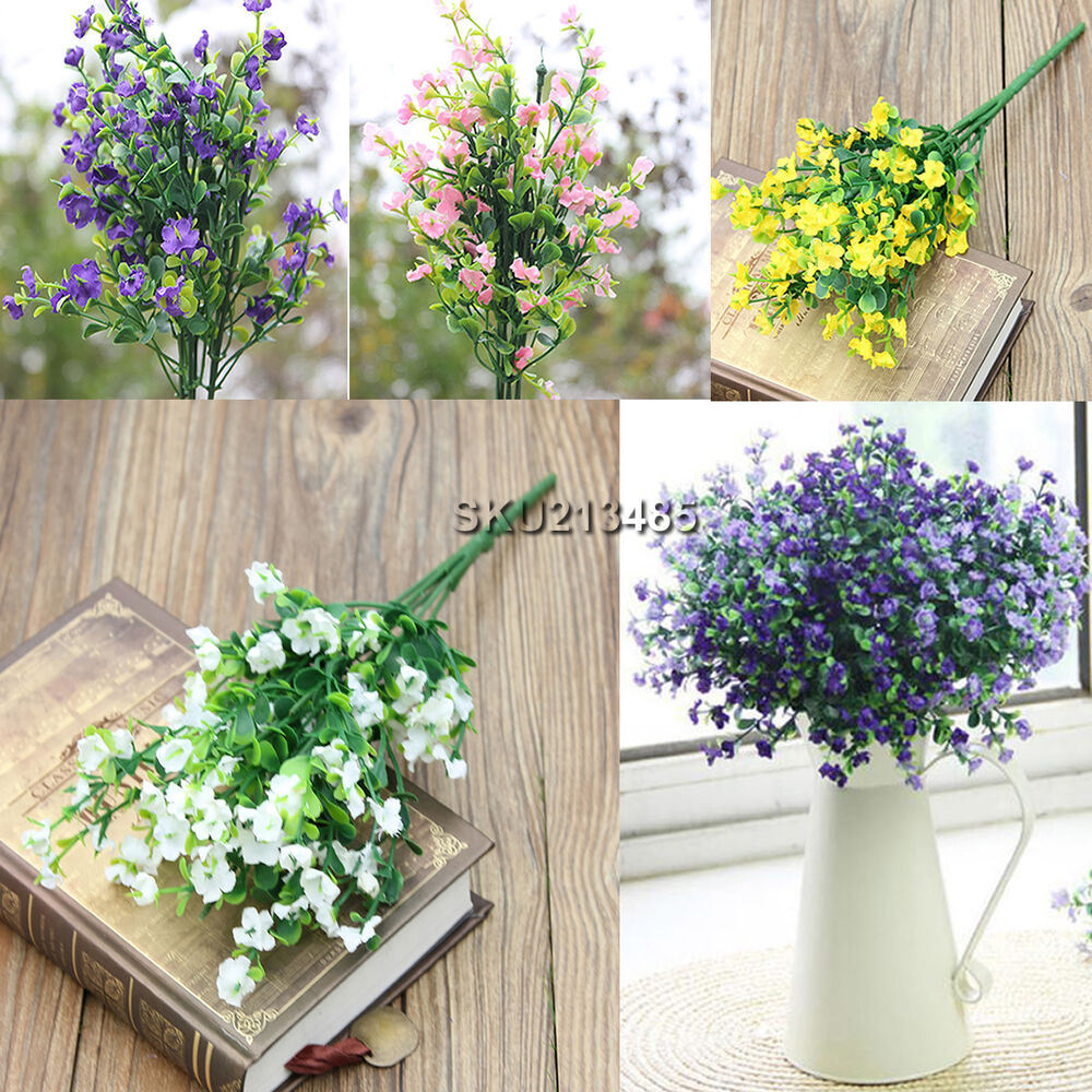 Artificial Flowers Home Decor: 1 Bouquet 6 Branches Artificial Silk Flower Gypsophila