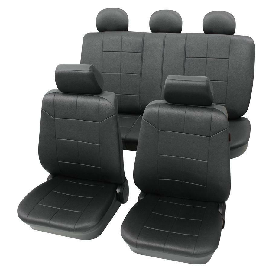 sitzbezug sitzbez ge leder look schwarz vw golf 1 2 3 4 ebay. Black Bedroom Furniture Sets. Home Design Ideas
