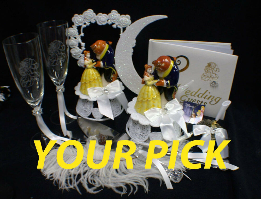 beauty and the beast wedding cake topper rose and the beast disney wedding cake topper or glasses 11250