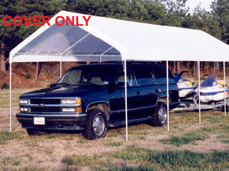 King Canopy 10' 27' Drawstring Cover 10' X 27' / White
