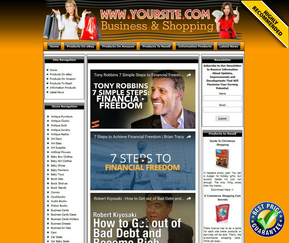 Residual income money making shop online business for Online website for sale