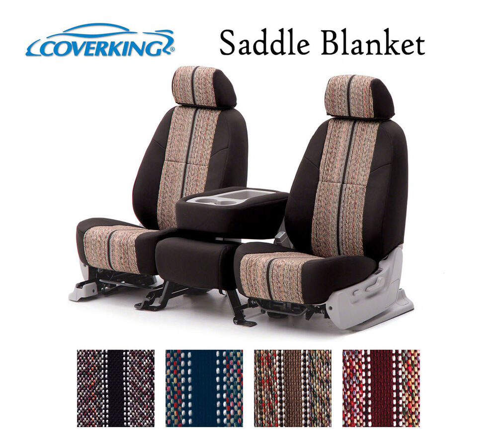 Coverking Custom Seat Covers Saddle Blanket Front Row 4 Color Options Ebay