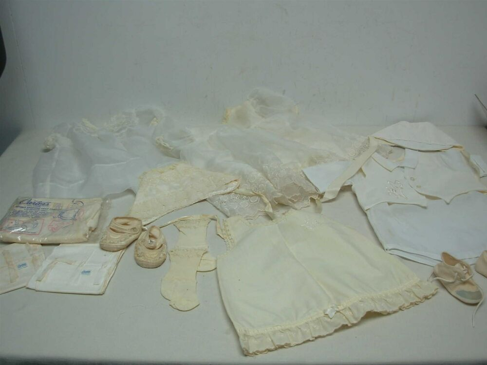 Lot Of Vintage 1950s Baby Clothes Carters Snap Undershirts