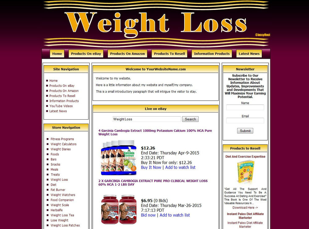 Established Weight Loss Niche Affiliate Turnkey Website Business