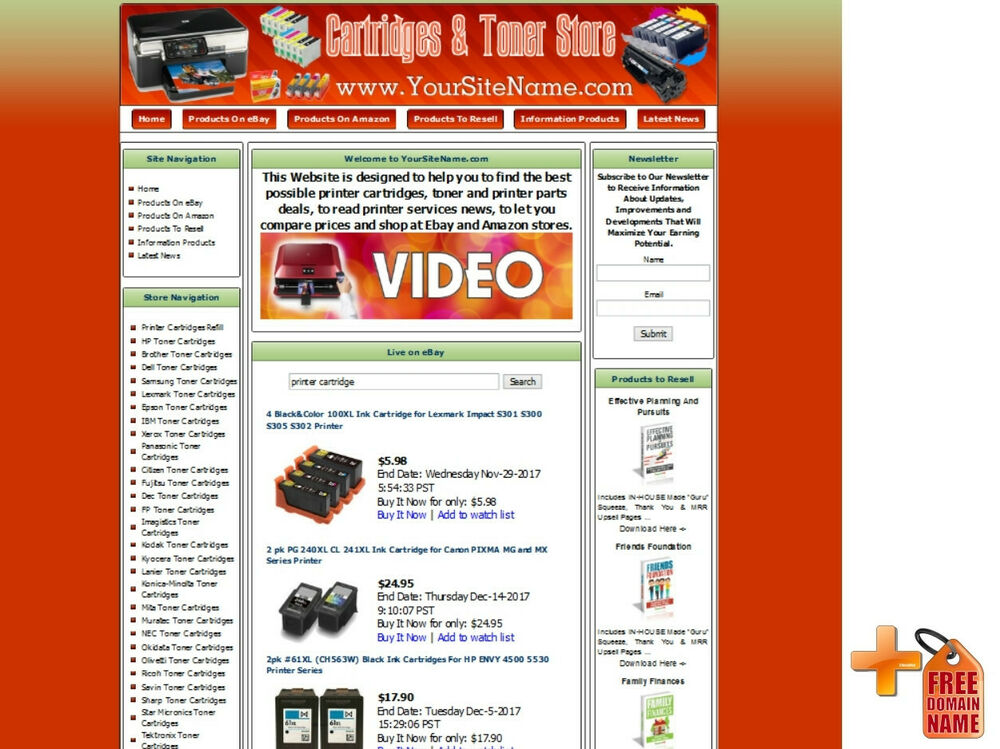 Printer cartridges printer parts store turnkey online for Online retailer for sale