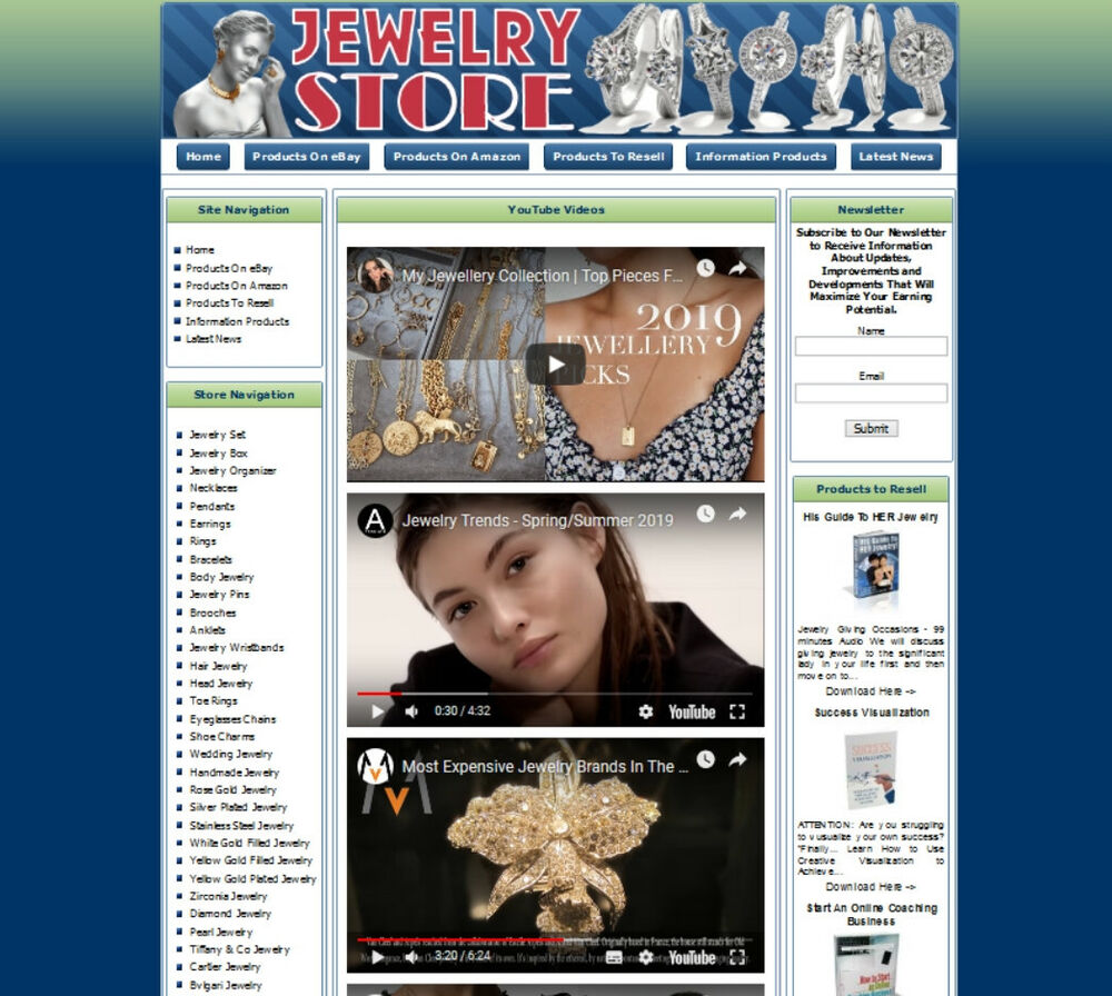 Home Store Website: Work-at-Home Affiliate Website