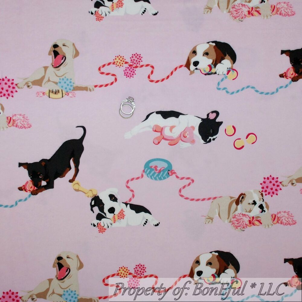 Boneful fabric fq cotton quilt flannel pink baby girl for Baby girl fabric