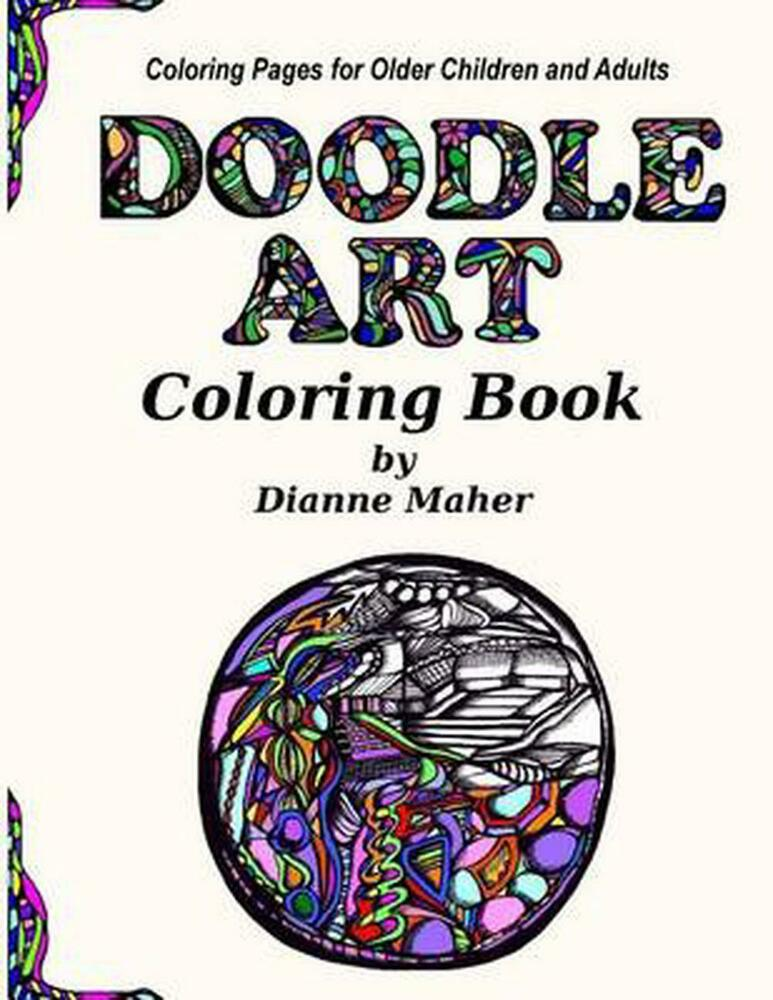Doodle Art Coloring Book Coloring Pages For Older